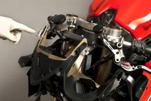Carbonin - Carbonin Inox Stays Upper Fairing Ducati Panigale 899/1199/1299