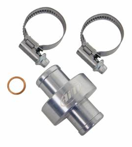 "AiM Sports - AiM 5/8""/3/4"" M10 inline water fitting, titanium gray"