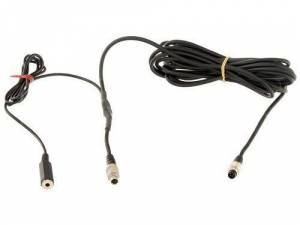 AiM Sports - AiM SmartyCam cable w/ ext. mic. jack, 2m, 712 7-pin to +/- wire