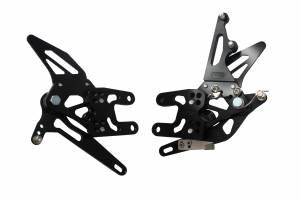 Accossato - Accossato Adjustable Racing Street Rearsets Made in AluminumKawasaki Ninja ZX-10R2004-2005