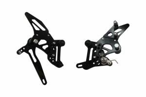 Accossato - Accossato Adjustable Racing Street Rearsets Made in Aluminum