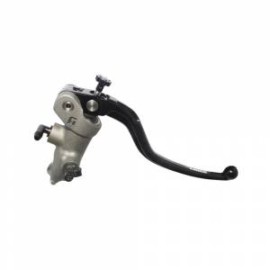 Accossato - Accossato Radial Front Brake Master Cylinder Forged Anodized Natural 17 x 18mm w/ Fixed Lever