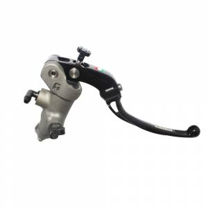 Accossato - Accossato Radial Front Brake Master Cylinder Forged Anodized Natural 17 x 18mm w/ Folding Lever