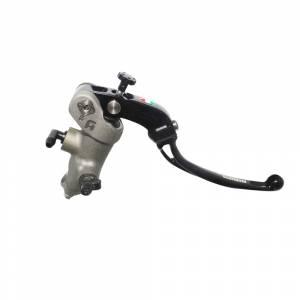 Accossato - Accossato Radial Front Brake Master Cylinder ForgedAnodized Naturalw/ Adjustable PRS 17 x 17-18-19mm w/ Folding Lever