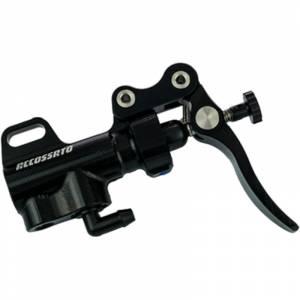 Accossato - Accossato Thumb brake master cylinder 10.5mm W/ Bent Lever & Bracket
