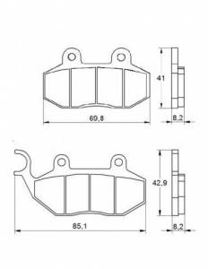 Accossato - Accossato Brake Pads Kit For Motorcycle, Made In Italy Compound, AGPA102 code