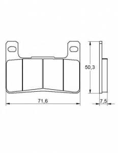 Accossato - Accossato Brake Pads Kit For Motorcycle,  Compound, AGPA109 code
