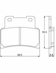 Accossato - Accossato Brake Pads Kit For Motorcycle, Made In Italy Compound, AGPA101 code