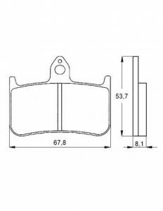 Accossato - Accossato Brake Pads Kit For Motorcycle, Made In Italy Compound, AGPA122 code