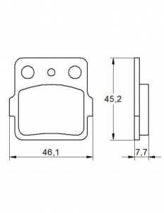 Accossato - Accossato Brake Pads Kit For Motorcycle,  Compound, AGPA111 code