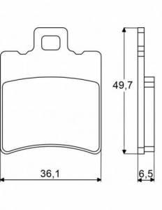 Accossato - Accossato Brake Pads Kit For Motorcycle,  Compound, AGPA13 code