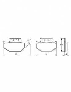 Accossato - Accossato Brake Pads Kit For Motorcycle,  Compound, AGPA114 code