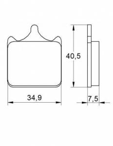 Accossato - Accossato Brake Pads Kit For Motorcycle, Made In Italy Compound, AGPA112 code
