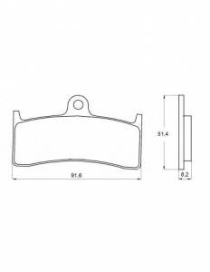 Accossato - Accossato Brake Pads Kit For Motorcycle, Made In Italy Compound, AGPA124 code