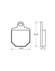 Accossato - Accossato Brake Pads Kit For Motorcycle,  Compound, AGPA136 code