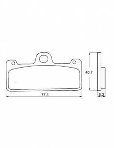 Accossato - Accossato Brake Pads Kit For Motorcycle, Made In Italy Compound, AGPA128 code