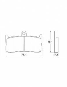 Accossato - Accossato Brake Pads Kit For Motorcycle, Made In Italy Compound, AGPA138 code
