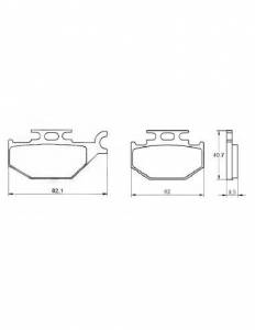 Accossato - Accossato Brake Pads Kit For Motorcycle, Made In Italy Compound, AGPA113 code