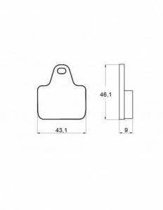 Accossato - Accossato Brake Pads Kit For Motorcycle, Made In Italy Compound, AGPA134 code