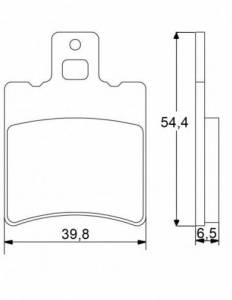 Accossato - Accossato Brake Pads Kit For Motorcycle, Made In Italy Compound, AGPA14 code