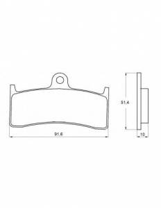 Accossato - Accossato Brake Pads Kit For Motorcycle, Made In Italy Compound, AGPA130 code