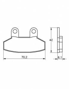 Accossato - Accossato Brake Pads Kit For Motorcycle, Made In Italy Compound, AGPA158 code