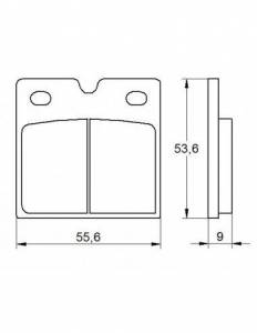 Accossato - Accossato Brake Pads Kit For Motorcycle, Made In Italy Compound, AGPA141 code