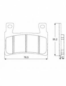 Accossato - Accossato Brake Pads Kit For Motorcycle, Made In Italy Compound, AGPA140 code