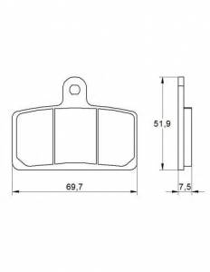 Accossato - Accossato Brake Pads Kit For Motorcycle,  Compound, AGPA142 code