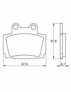 Accossato - Accossato Brake Pads Kit For Motorcycle, Made In Italy Compound, AGPA167 code