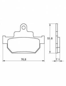 Accossato - Accossato Brake Pads Kit For Motorcycle, Made In Italy Compound, AGPA163 code