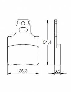 Accossato - Accossato Brake Pads Kit For Motorcycle,  Compound, AGPA151 code