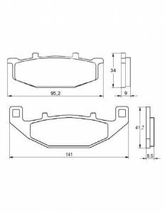 Accossato - Accossato Brake Pads Kit For Motorcycle, Made In Italy Compound, AGPA153 code