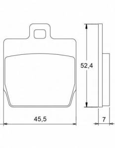 Accossato - Accossato Brake Pads Kit For Motorcycle, Made In Italy Compound, AGPA19 code