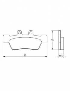 Accossato - Accossato Brake Pads Kit For Motorcycle, Made In Italy Compound, AGPA183 code