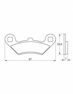 Accossato - Accossato Brake Pads Kit For Motorcycle, Made In Italy Compound, AGPA189 code