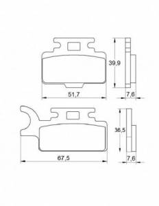 Accossato - Accossato Brake Pads Kit For Motorcycle, Made In Italy Compound, AGPA169 code