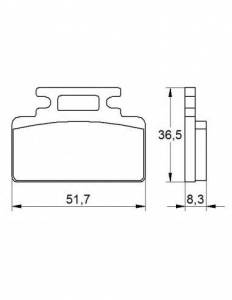Accossato - Accossato Brake Pads Kit For Motorcycle, Made In Italy Compound, AGPA168 code