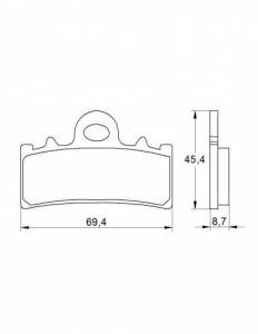 Accossato - Accossato Brake Pads Kit For Motorcycle, Made In Italy Compound, AGPA184 code