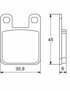 Accossato - Accossato Brake Pads Kit For Motorcycle, Made In Italy Compound, AGPA18 code
