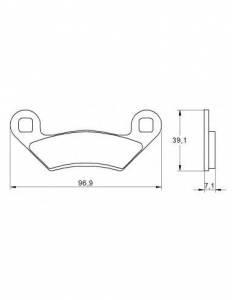 Accossato - Accossato Brake Pads Kit For Motorcycle,  Compound, AGPA190 code