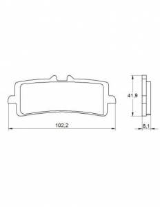 Accossato - Accossato Brake Pads Kit For Motorcycle, Made In Italy Compound, AGPA186 code