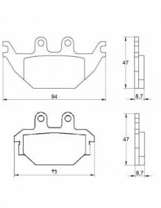 Accossato - Accossato Brake Pads Kit For Motorcycle, Made In Italy Compound, AGPA173 code