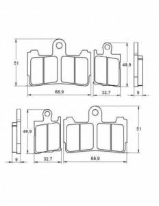 Accossato - Accossato Brake Pads Kit For Motorcycle, Made In Italy Compound, AGPA193 code