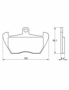 Accossato - Accossato Brake Pads Kit For Motorcycle,  Compound, AGPA178 code