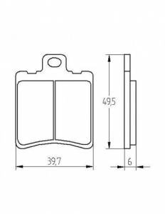 Accossato - Accossato Brake Pads Kit For Motorcycle, Made In Italy Compound, AGPA198 code