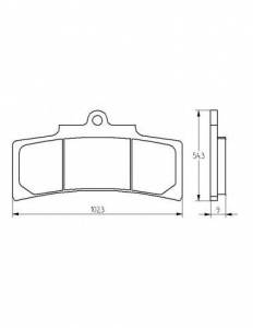 Accossato - Accossato Brake Pads Kit For Motorcycle, Made In Italy Compound, AGPA202 code