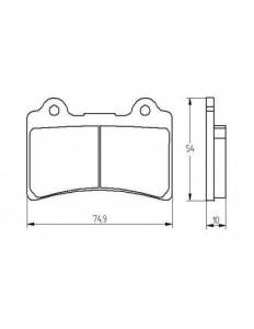 Accossato - Accossato Brake Pads Kit For Motorcycle, Made In Italy Compound, AGPA197 code