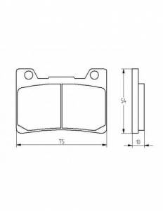 Accossato - Accossato Brake Pads Kit For Motorcycle, Made In Italy Compound, AGPA199 code