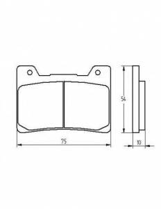 Accossato - Accossato Brake Pads Kit For Motorcycle, Made In Italy Compound, AGPA200 code